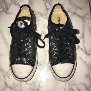 Black Sequined Converse